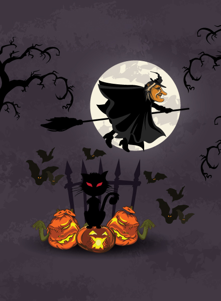 Abstract-2 Vector Image Halloween Background  Witch Vector Illustration 2015 02 02 237