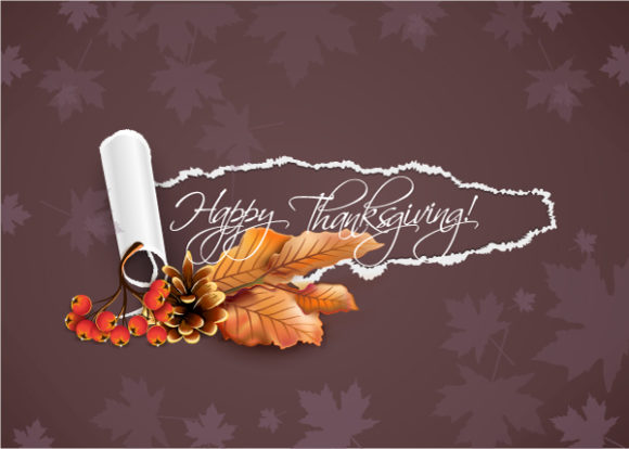 Pine Vector Image Happy Thanksgiving Day Vector 2015 02 02 241