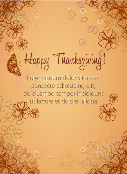 Thanksgiving Eps Vector Happy Thanksgiving Day Vector 2015 02 02 242