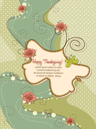 happy thanksgiving day vector Vector Illustrations vector