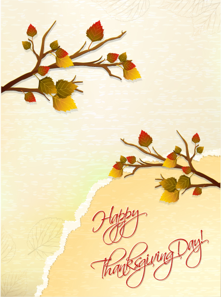 Lovely Nature-2 Vector Design: Happy Thanksgiving Day Vector Design 2015 02 02 244