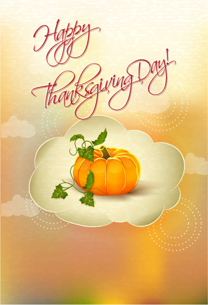 Happy Vector Background: Happy Thanksgiving Day Vector Background 5