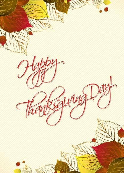 New Text Vector Design: Happy Thanksgiving Day Vector Design 2015 02 02 257