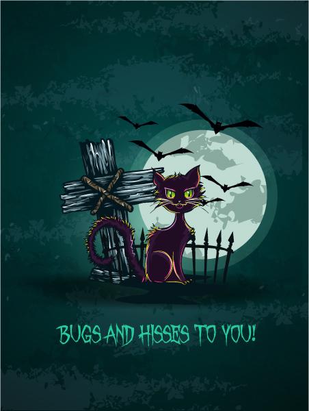 vector halloween background 5