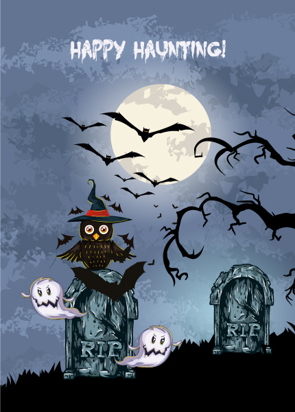 Owl Vector Art Vector Halloween Background  Owl 5
