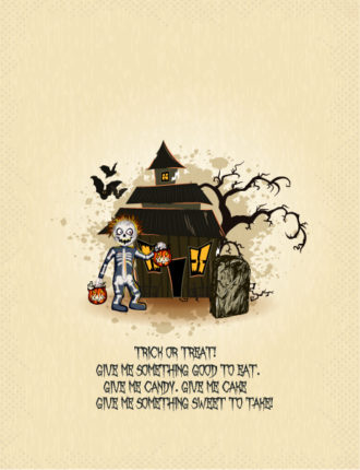vector halloween background with house Vector Illustrations vector