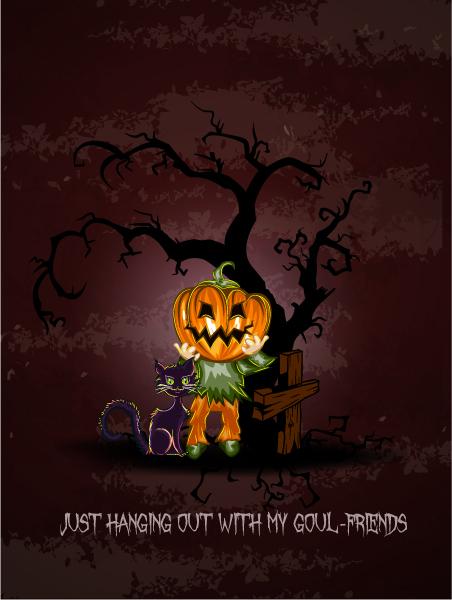 Halloween Vector Art Vector Halloween Background  Pumpkin 5