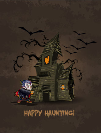 vector halloween background with dracula Vector Illustrations vector