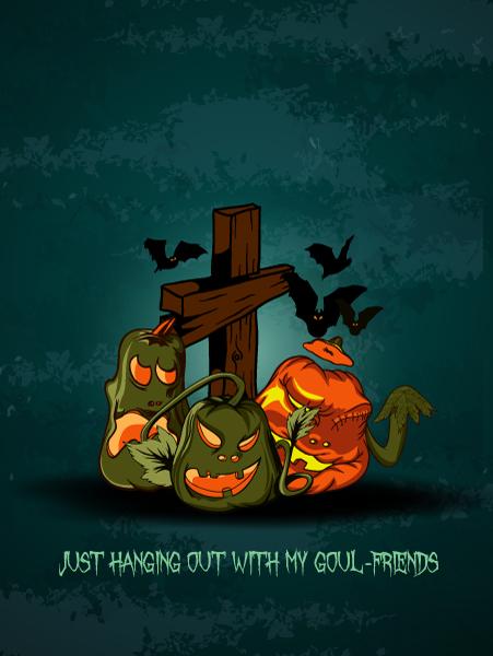 vector halloween background with cross 5
