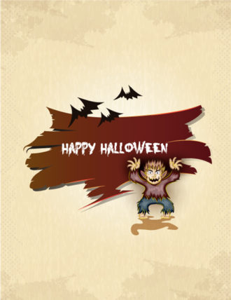 vector halloween background with werewolf Vector Illustrations vector