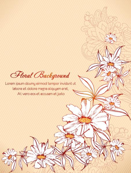 Astounding Floral-3 Vector Artwork: Floral Vector Artwork Background Illustration 5