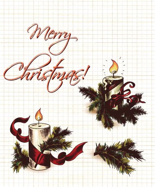 Bold Card Vector Art: Christmas Vector Art Elements 2015 02 02 330