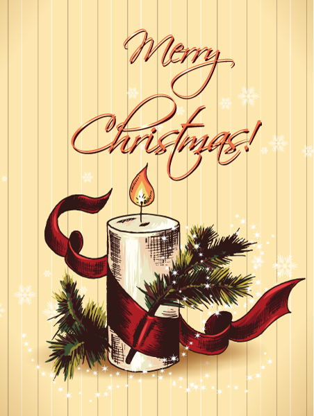 New Fir Vector Design: Christmas Vector Design Illustration With Fir And Candle 2015 02 02 331