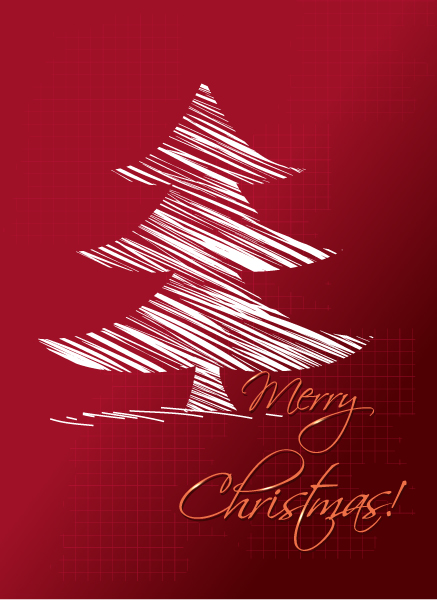 Striking Tree Vector Artwork: Christmas Vector Artwork Illustration With Christmas Tree 5
