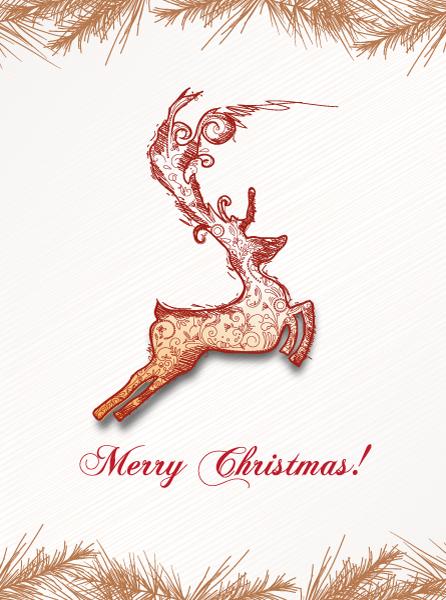 Deer Vector Graphic Christmas Vector Illustration  Deer 2015 02 02 344