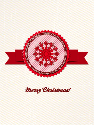 Christmas vector illustration with label Vector Illustrations old