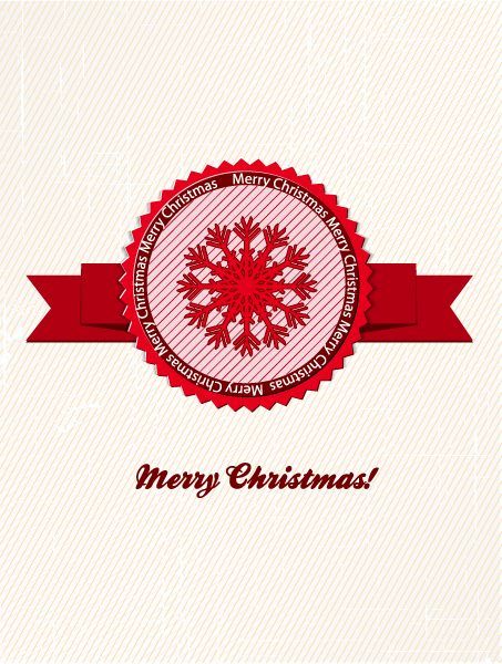 Awesome Label Vector Illustration: Christmas Vector Illustration Illustration With Label 2015 02 02 351