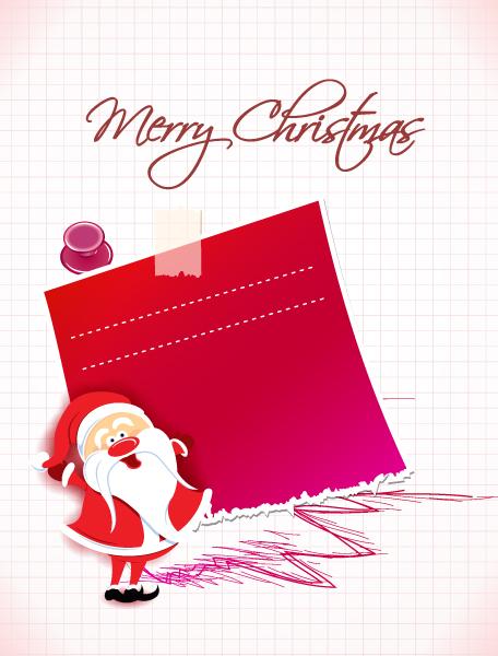Old, Santa, Christmas Vector Design Christmas Vector Illustration  Santa  Sticker 5