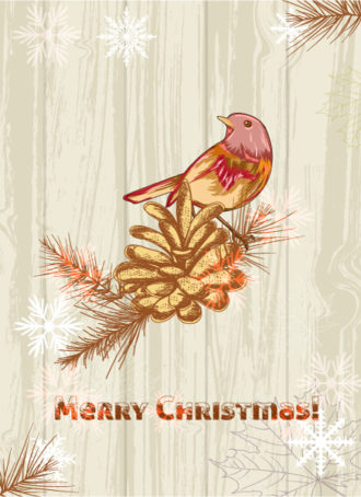 Christmas illustration vector Vector Illustrations tree