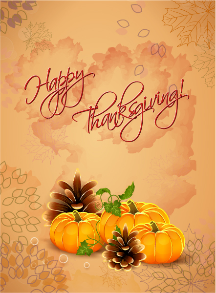Amazing Day Vector Image: Happy Thanksgiving Day Vector Image 1