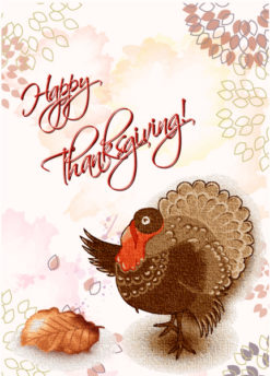 happy thanksgiving day vector Vector Illustrations floral