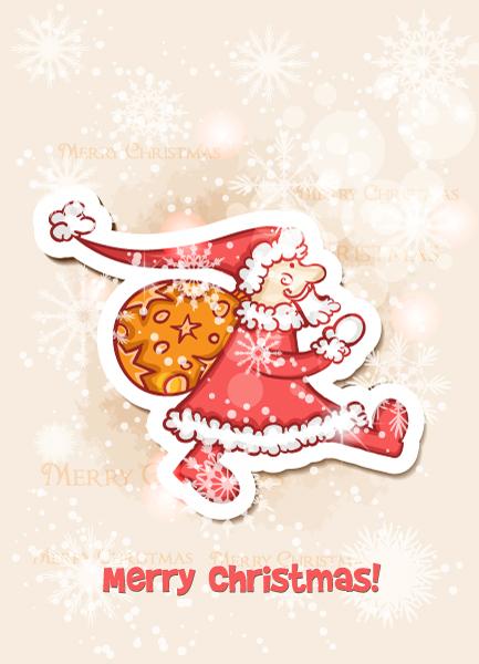 Christmas illustration vector 2015 02 02 394