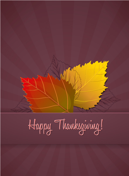 vector thanksgiving illustration with leaves Vector Illustrations floral