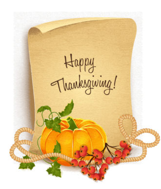 vector thanksgiving illustration with pumpkin Vector Illustrations floral