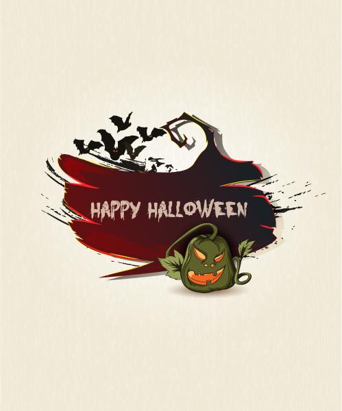 Creepy Vector Art Halloween Background Vector Illustration 5