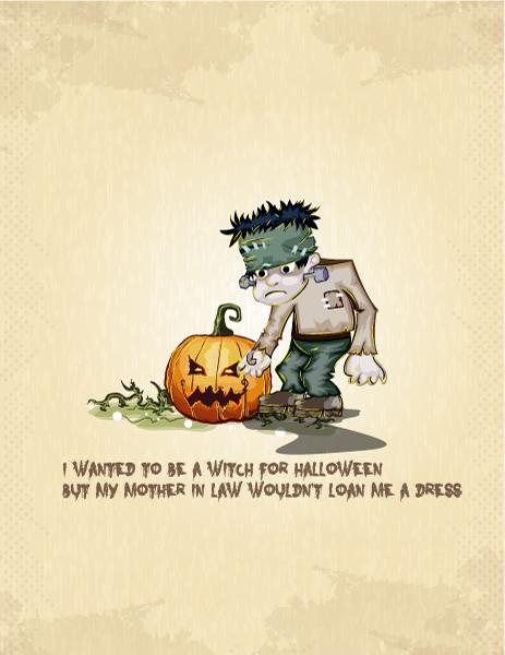 Spooky Vector Design: Halloween Background Vector Design Illustration 5