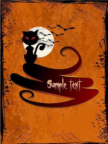 Stunning Event Eps Vector: Halloween Background Eps Vector Illustration 5