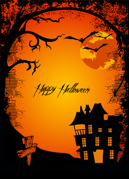 Smashing Scary Vector Graphic: Halloween Background Vector Graphic Illustration 2015 02 02 429