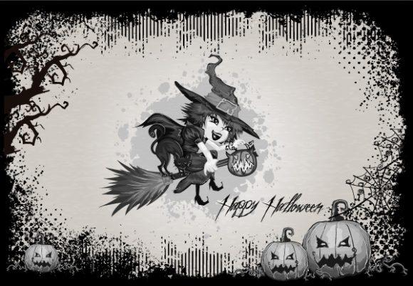 Surprising Illustration Vector Artwork: Halloween Background Vector Artwork Illustration 2015 02 02 436
