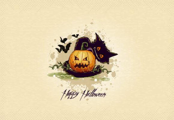 New Creepy Vector Graphic: Halloween Background Vector Graphic Illustration 5