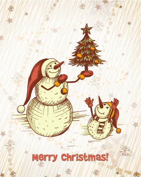Christmas illustration vector 2015 02 02 467
