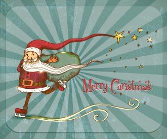 Christmas Illustration with santa vector Vector Illustrations vector