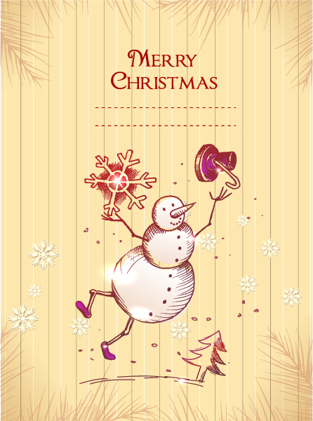 Christmas illustration vector 5