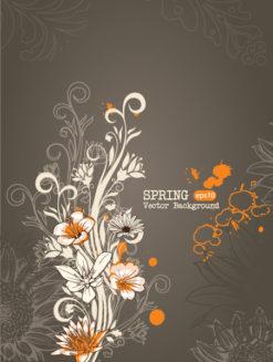 spring vector illustration Vector Illustrations old