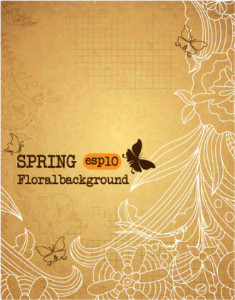 spring vector illustration Vector Illustrations old