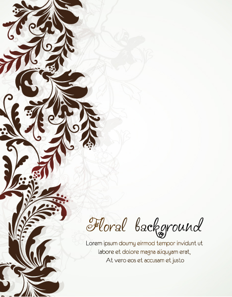 Floral-3 Eps Vector Floral Vector Background  Floral Elements 1