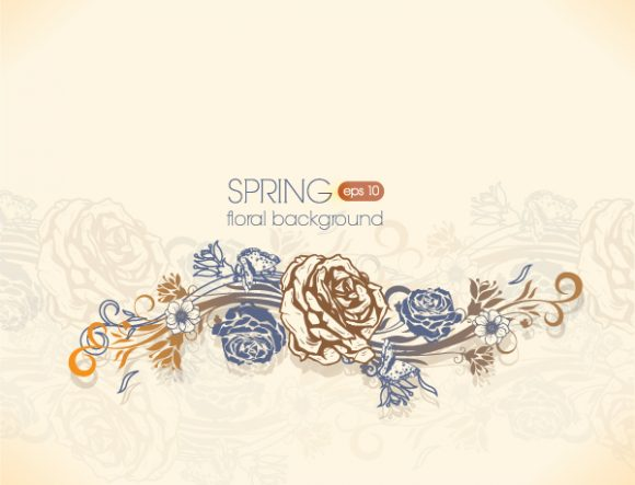 Stunning Floral Vector Image: Floral Vector Image Background With Floral Elements 1