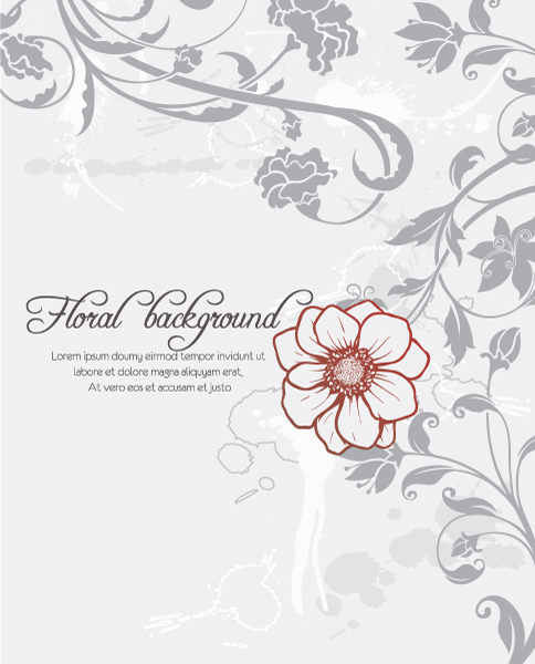 floral vector background with floral elements 1