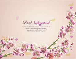 floral vector background illustration with branches Vector Illustrations floral