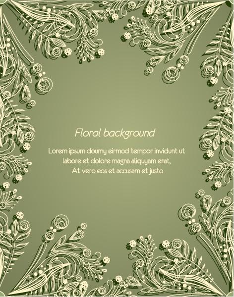 floral vector background illustration 5