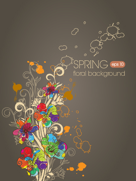floral vector background illustration 5