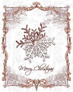 Christmas vector illustration with snow flake Vector Illustrations old