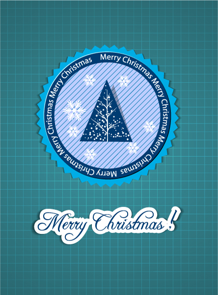 Trendy Creative Vector Illustration: Christmas Vector Illustration Illustration With Label 5