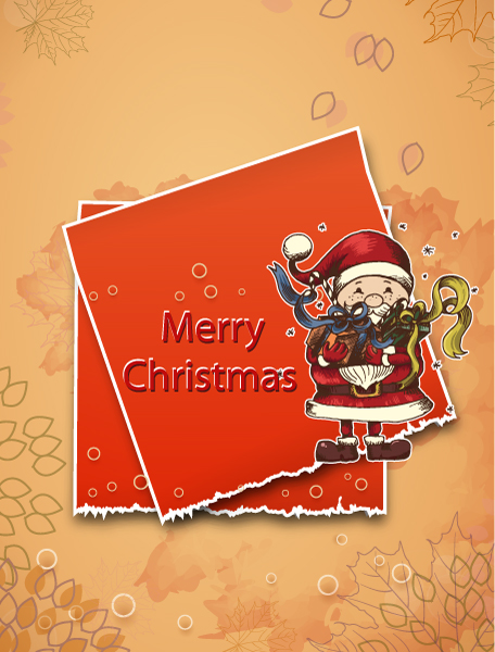 Buy Christmas Vector Background: Christmas Illustration With Sticker 2015 02 02 589
