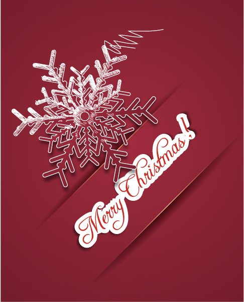 Special Illustration Vector Illustration: Christmas Illustration With Snow Flake 5