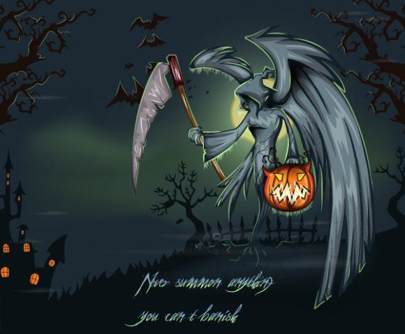 Smashing Halloween Vector Artwork: Halloween Background Vector Artwork Illustration 2015 02 02 598